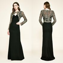 TADASHI SHOJI Flower Patterns Long Sleeves Long Party Style Lace Dresses