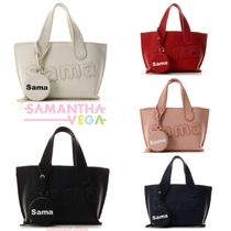 Samantha Thavasa Faux Fur Vanity Bags 2WAY Plain Office Style Totes