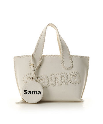 Faux Fur Vanity Bags 2WAY Plain Office Style Logo Totes