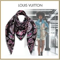 Louis Vuitton Silk Blended Fabrics Fringes Elegant Style Accessories