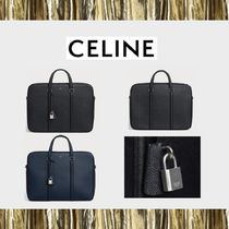 CELINE Calfskin A4 2WAY Plain Business & Briefcases