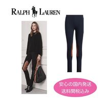 Ralph Lauren Casual Style Blended Fabrics Bi-color Plain Skinny Pants