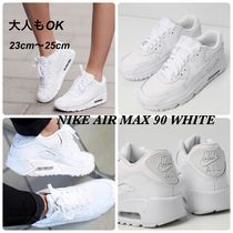 Nike AIR MAX 90 Round Toe Lace-up Casual Style Street Style Plain Leather