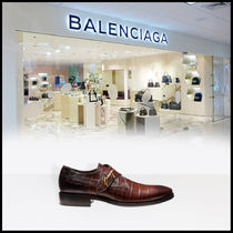 BALENCIAGA CITY Monk Other Animal Patterns Leather Loafers & Slip-ons