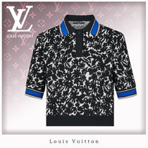 Louis Vuitton Unisex Blended Fabrics Short Sleeves Polo Shirts