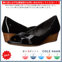 Cole Haan Open Toe Casual Style Enamel Plain Peep Toe Pumps & Mules