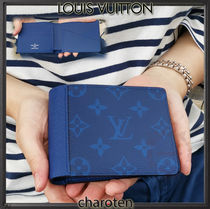 Louis Vuitton MONOGRAM Monogram Unisex Calfskin Plain Folding Wallets
