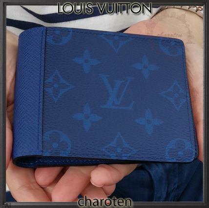 Louis Vuitton Folding Wallets Monogram Unisex Calfskin Plain Folding Wallets 2