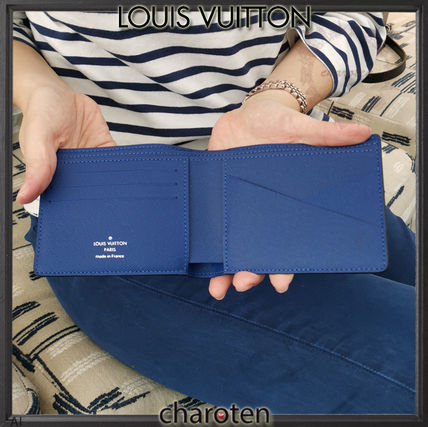 Louis Vuitton Folding Wallets Monogram Unisex Calfskin Plain Folding Wallets 3