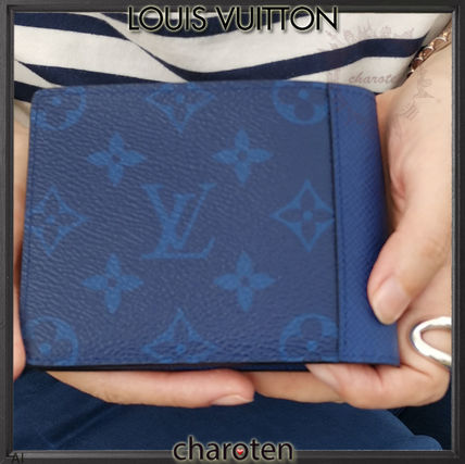 Louis Vuitton Folding Wallets Monogram Unisex Calfskin Plain Folding Wallets 4
