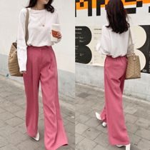 Casual Style Street Style Plain Long Home Party Ideas Pants