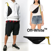 Off-White Unisex Denim Blended Fabrics Street Style 2WAY Hip Packs