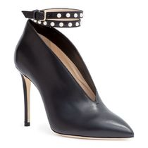 Jimmy Choo Leather Pin Heels With Jewels Ankle & Booties Boots