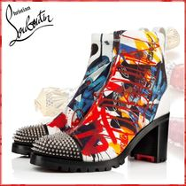 Christian Louboutin Casual Style Blended Fabrics Studded Street Style Leather