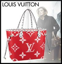 Louis Vuitton MONOGRAM Monogram Casual Style Blended Fabrics A4 Leather Totes