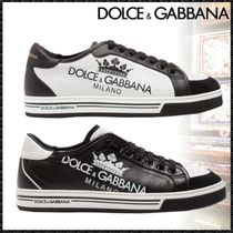 Dolce & Gabbana Blended Fabrics Bi-color Leather Sneakers