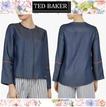 TED BAKER Casual Style Long Sleeves Plain Cotton Medium