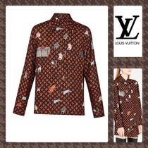 Louis Vuitton Monogram Casual Style Silk Street Style Long Sleeves