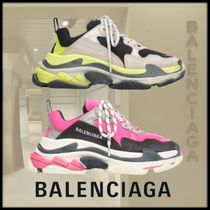 BALENCIAGA Triple S Rubber Sole Casual Style Low-Top Sneakers