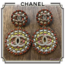 CHANEL Costume Jewelry Leather Elegant Style Earrings & Piercings