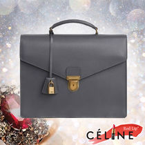 CELINE Calfskin 2WAY Plain Business & Briefcases