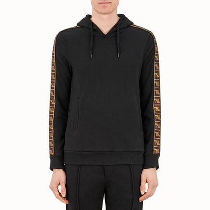 FENDI Hoodies Monogram Unisex Street Style Long Sleeves Cotton 3