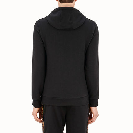 FENDI Hoodies Monogram Unisex Street Style Long Sleeves Cotton 4