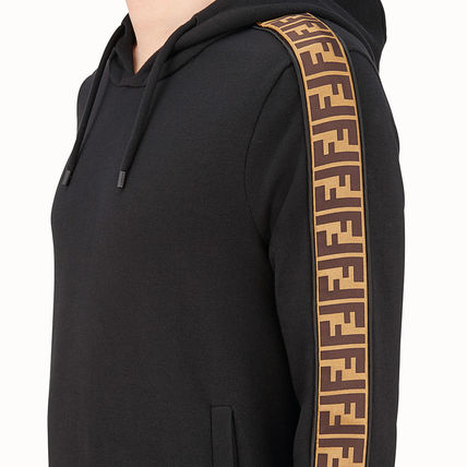 FENDI Hoodies Monogram Unisex Street Style Long Sleeves Cotton 5
