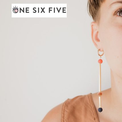 Casual Style Handmade 18K Gold Earrings & Piercings