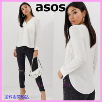 ASOS Casual Style Long Sleeves Plain Medium Shirts & Blouses
