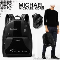 Michael Kors BRYANT A4 Plain Leather Backpacks