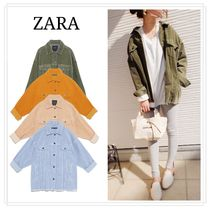ZARA Casual Style Street Style Long Oversized Jackets