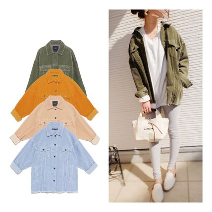 Casual Style Street Style Long Oversized Jackets