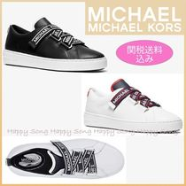 Michael Kors Round Toe Rubber Sole Casual Style Plain Low-Top Sneakers