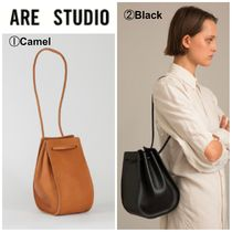 ARE STUDIO Casual Style Suede Plain Leather Shoulder Bags