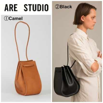 Casual Style Suede Plain Shoulder Bags