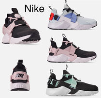Nike AIR HUARACHE Round Toe Rubber Sole Lace-up Casual Style Street Style