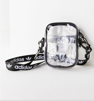 Casual Style Unisex Collaboration Plain Crystal Clear Bags