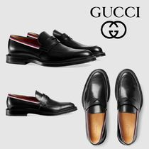 GUCCI Sylvie Stripes Loafers Leather Loafers & Slip-ons