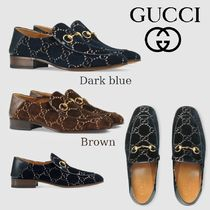 GUCCI Loafers Velvet Loafers & Slip-ons