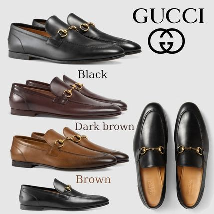 43336a484540 GUCCI Jordaan 2019 SS Loafers Plain Leather Loafers   Slip-ons by ...