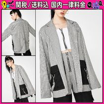 DOLLS KILL Other Check Patterns Casual Style Medium Oversized Jackets
