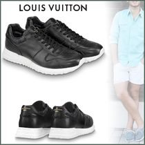 Louis Vuitton MONOGRAM Monogram Blended Fabrics Street Style Plain Leather Sneakers