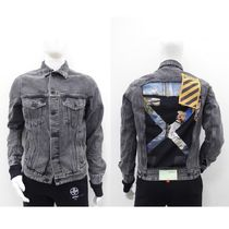 Off-White Denim Street Style Denim Jackets Jackets