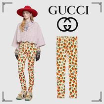 GUCCI Casual Style Cotton Medium Skinny Pants