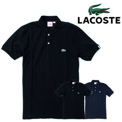 LACOSTE Polos Pullovers Stripes Cotton Short Sleeves Polos