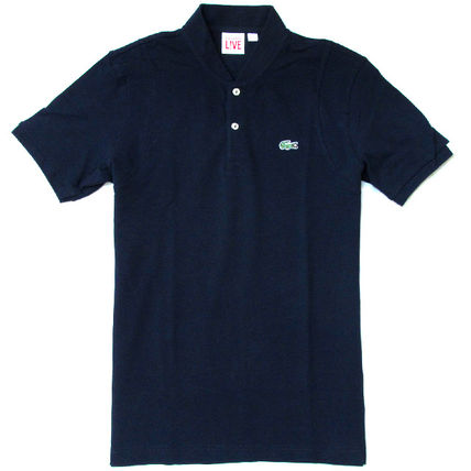 LACOSTE Polos Pullovers Stripes Cotton Short Sleeves Polos 10