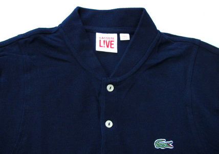 LACOSTE Polos Pullovers Stripes Cotton Short Sleeves Polos 11