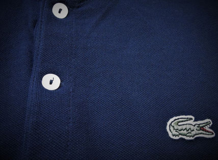 LACOSTE Polos Pullovers Stripes Cotton Short Sleeves Polos 7