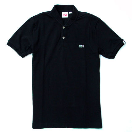 LACOSTE Polos Pullovers Stripes Cotton Short Sleeves Polos 9
